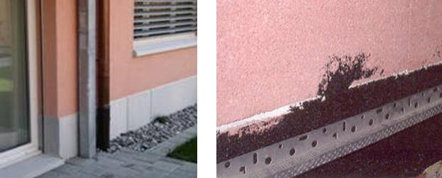 la fachada a ms de cm por encima del nivel del suelo exterior para evitar el ascenso de agua por capilaridad o adoptar otra solucin que produzca