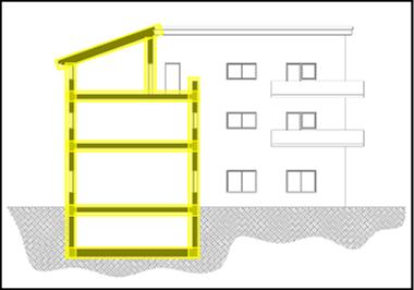 Figura 1: Envolvente térmica (cerramientos opacos, huecos y puentes térmicos)